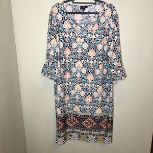Tacera Textured Floral Dress Size 3X